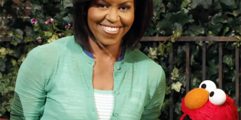 Michelle Obama besuchte die Sesamstraße