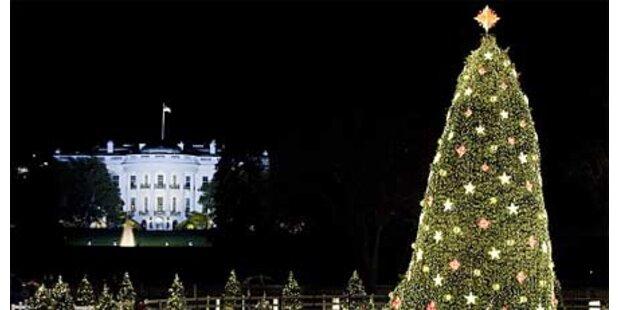 Obamas Weihnachtsbaum leuchtet hell