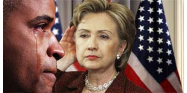 Obama büßt Vorsprung zu Clinton ein