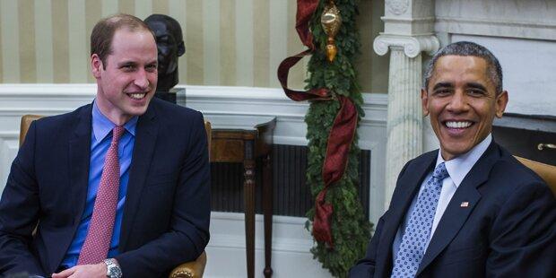 Obama empfängt britischen Prinzen William