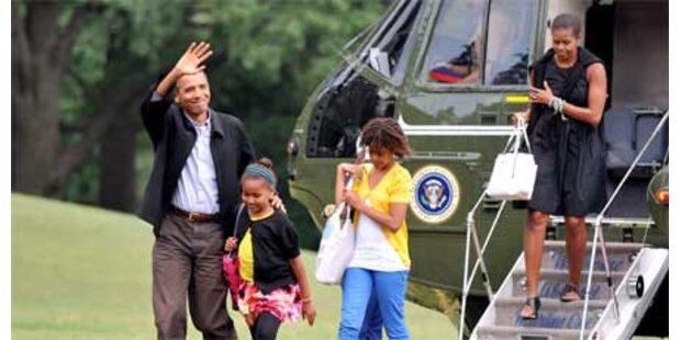 Obamas kehrten aus Urlaub zurück