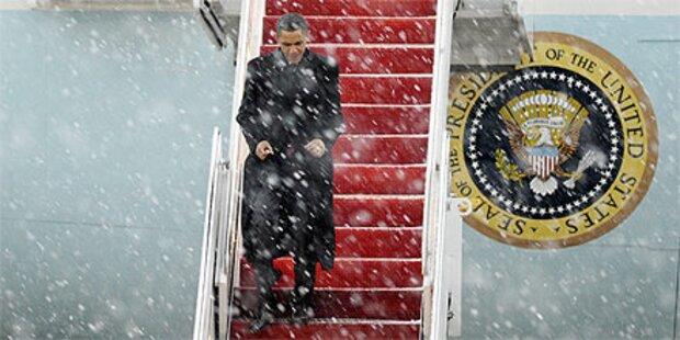 Schneesturm stoppt Obama