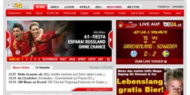 oe24-Netz klare Nr. 1 der Printmedien im Web