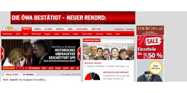 oe24-Netz ist Nummer 1 bei Tageszeitungen