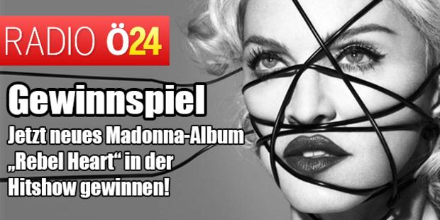 """Jetzt neues Madonna-Album """"Rebel Heart"""" in der Hitshow gewinnen!"""