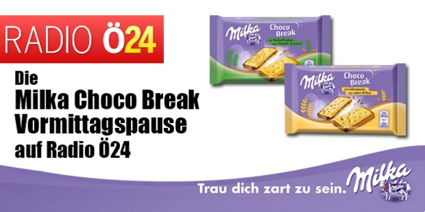 Die Milka Choco Break Vormittagspause auf Radio Ö24