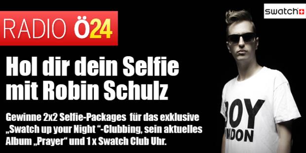 Hol dir dein Selfie mit Robin Schulz