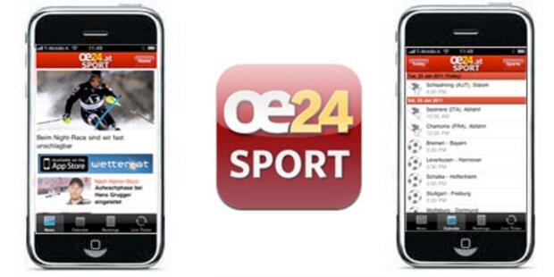 Neue oe24.at-Sport-App für das iPhone