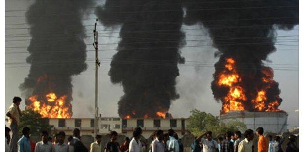 Sechs Tote bei Öllager-Brand in Indien