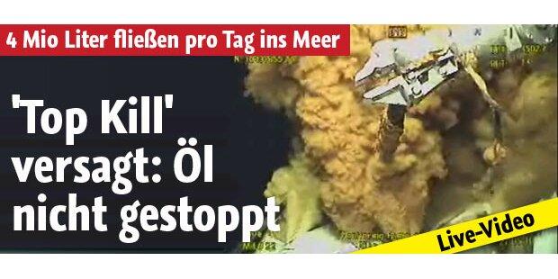 Öl strömt weiter aus - Top Kill versagt