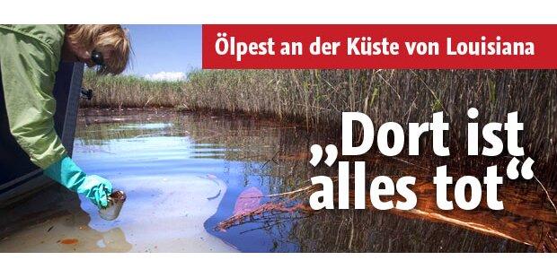 Ölpest an Küste: