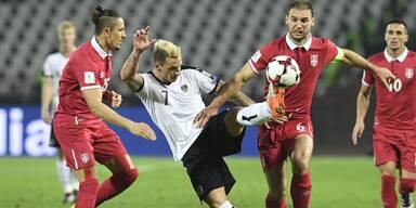 Österreich verliert gegen Serbien