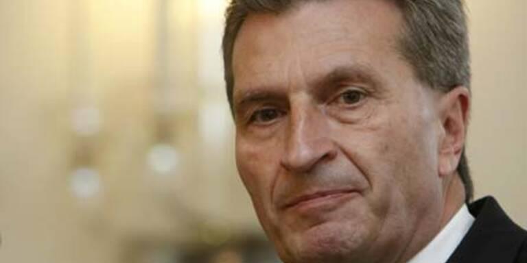 Oettinger zuversichtlich über Einigung