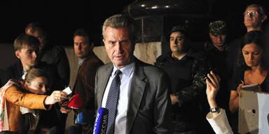 EU-Kommissar Oettinger, gescheiterte Gasverhandlungen Ukraine - Russland