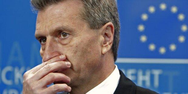 Oettinger nimmt Englisch-Nachhilfe