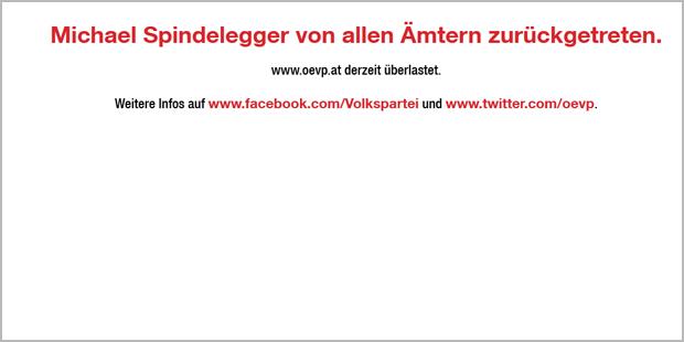 ÖVP-Homepage brach zusammen