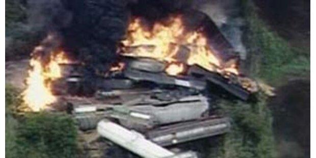 Chemie-Güterzug in Ohio explodiert
