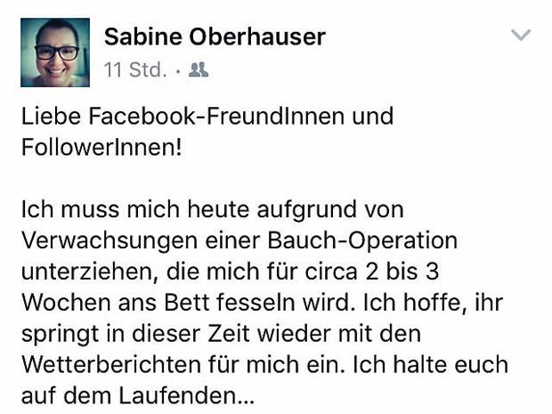 Oberhauser Facebook