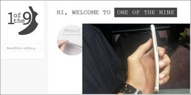 Seite zeigt hunderte verbogene iPhone 6