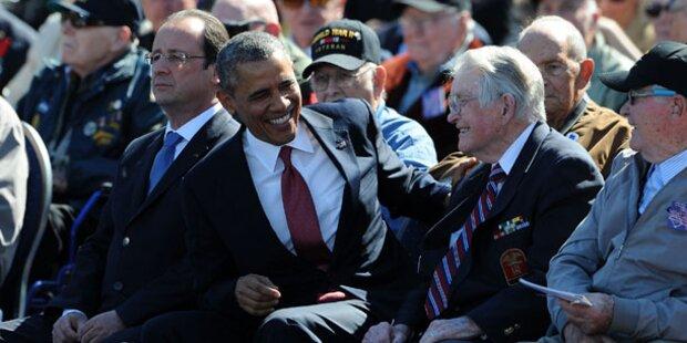 D-Day-Feier: Empörung über Obamas Kaugummi