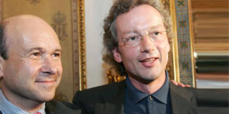 Neuer Staatsoperndirektor Meyer, Generalmusikdirektor Welser-Möst (v.l.)