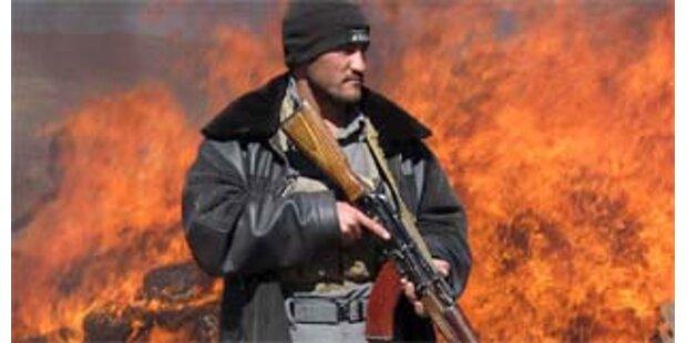 Polizei vernichtet Drogen in Afghanistan - 12 Tote