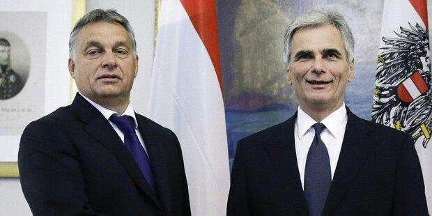 Faymann: Frostiges Treffen mit Orbán