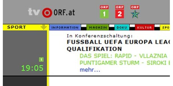 Aus für ORF Sport plus wäre illegal