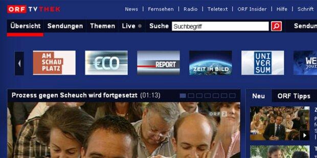 ORF-TVthek via A1 TV am Fernseher
