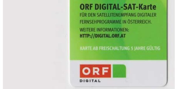Wirbel um ORF-Decoder-Karten für SAT-TV