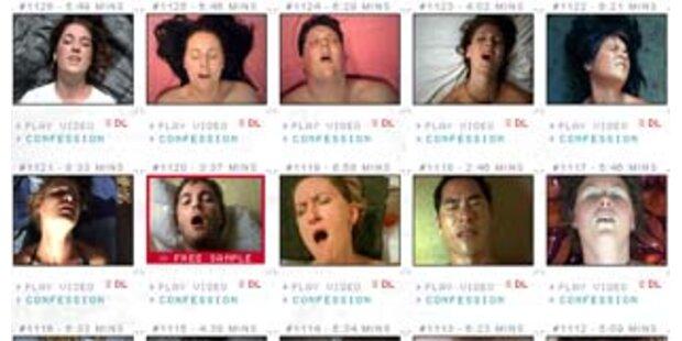 Website zeigt gefilmte Orgasmen