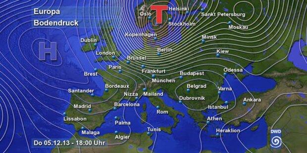 Deutschland rüstet sich gegen Orkan