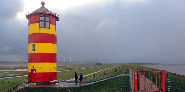 Orkan fegt mit 130 km/h über Deutschland