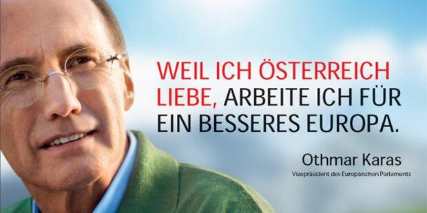ÖVP plakatiert Karas ohne Parteilogo