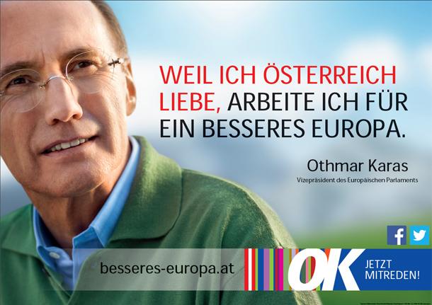 Othmar Karas Wahlplakat