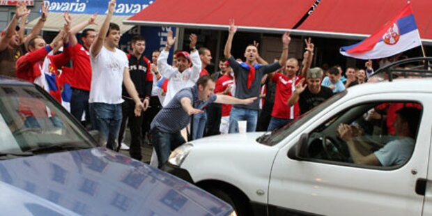 WM-Sieg: Serben jubeln in Wien-Ottakring
