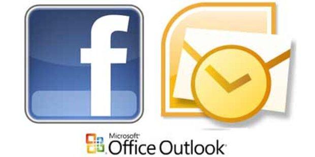 Facebook kommt ins Outlook-Postfach