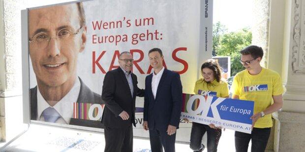 ÖVP setzt im Wahlkampf-Finale ganz auf Karas