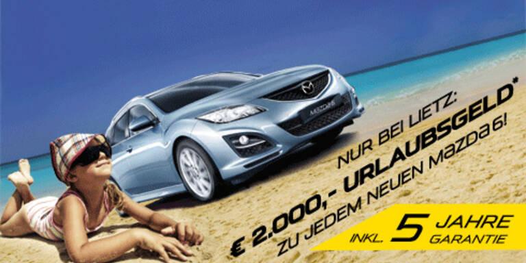 2.000 Euro Urlaubsgeld zu jedem neuen Mazda6
