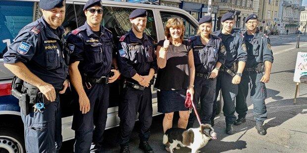 Polizisten retten blindem Hund