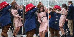 Herzogin Kate tanzte mit Paddington Bär