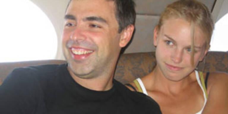 Larry Page mit seiner Frau