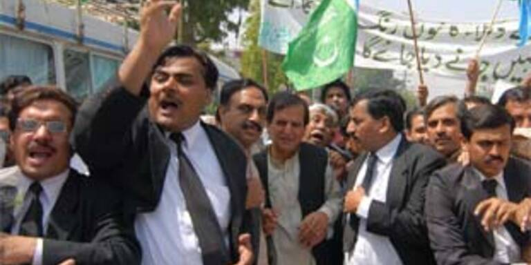 Proteste von Anwälten in Islamabad