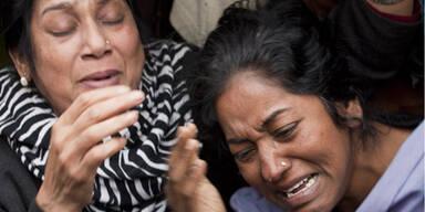Pakistan weinende Frauen