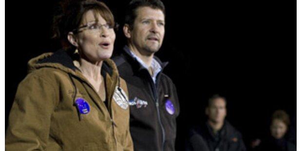 So lässig kam Sarah Palin zur Wahl