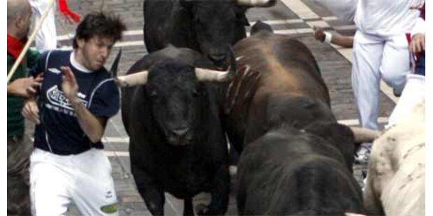 Fünf Verletzte bei Stierhatz in Pamplona