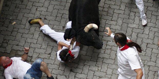 Verletzte bei Stierhatz in Pamplona