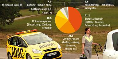 Pannenstatistik: Mängelzwerge und -riesen