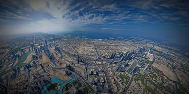 360-Grad-Foto vom höchsten Gebäude der Welt