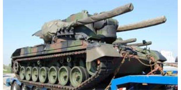 Deutsche Panzer im Burgenland gestoppt